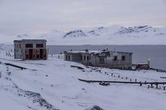 Barentsburg - Russian village on Spitsbergen Royalty Free Stock Photos