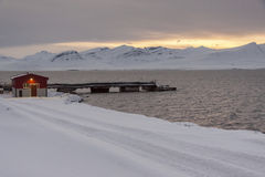 Barentsburg - Russian village on Spitsbergen Royalty Free Stock Photo