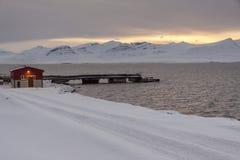 Barentsburg - Russian village on Spitsbergen Royalty Free Stock Photo