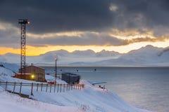 Barentsburg - Russian village on Spitsbergen Stock Images