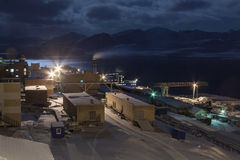 Barentsburg - Russian village on Spitsbergen Royalty Free Stock Photos