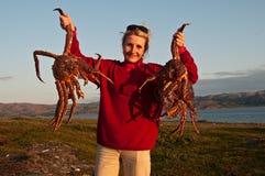 barentskrabbor görar till kung havet Arkivfoto