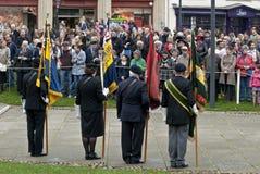 Barers de drapeau de la légion britannique royale Photos libres de droits
