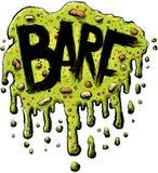 Barf text Arkivfoton