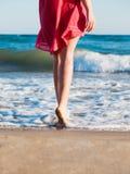 Barfeet beach Royalty Free Stock Image