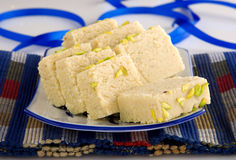 Barfi-2. Mouth watering sweet treat of Asia Royalty Free Stock Image