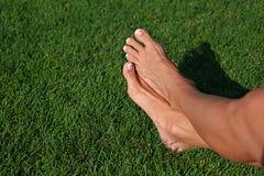 barfota gräs Royaltyfria Foton