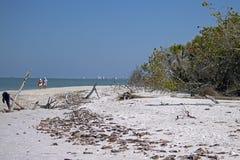 Barfota strand - fort Myers Beach, Florida Arkivbilder