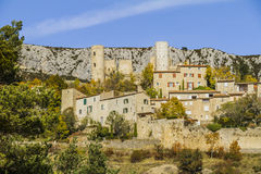 Bargème village. Bargème an old village of character in the south of France Stock Image