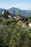 Barga Lucca Toskana Italien stockbilder