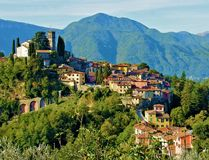 Barga lucca tuscany Italien Royaltyfri Foto