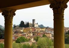 Barga lucca tuscany Italien Arkivbilder
