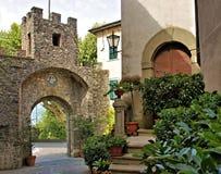 Barga lucca tuscany Italien Fotografering för Bildbyråer