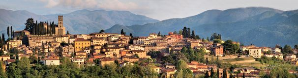Barga Lucques Toscane Italie Photographie stock libre de droits