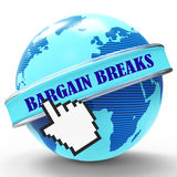 Bargain Breaks Represents Short Holiday And Travel Stock Image