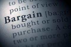 Bargain. Dictionary definition of the word Bargain Royalty Free Stock Image
