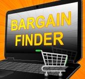 Bargain Finder Shows Internet Comparison 3d Illustration. Bargain Finder Showing Internet Comparison 3d Illustration Stock Photos
