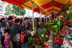 Bargain in flower fair 3 Stock Image