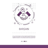 Bargain Hand Shake Agreement Deal Web Banner With Copy Space Stock Image