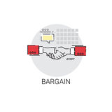 Bargain Hand Shake Agreement Icon Business Concept Stock Photos