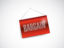 Bargain hanging sign illustration design Royalty Free Stock Image