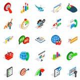 Bargain icons set, isometric style Royalty Free Stock Images