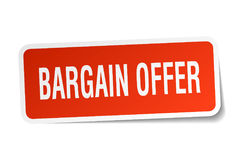 Bargain offer square sticker Royalty Free Stock Photography