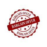 Bargain offer stamp illustration Stock Images