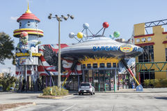 Bargain Planet. Is a gift shop located at 6454 International Drive, Orlando, FL 32819. It has an elaborate exterior architectural design Stock Photos
