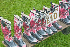 Bargain price rubber boots. Royalty Free Stock Image