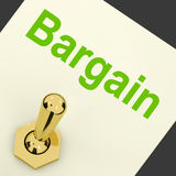 Bargain Switch Shows Discount Promotion Royalty Free Stock Photos