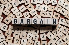 BARGAIN word concept royalty free stock image