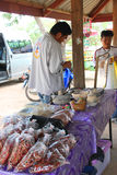 Bargaining product prices. TAPHRAYA, SRA KAEO - MAY 13 : Unidentified men are bargaining product prices on May 13, 2012 in Ban Klong Yang, Taphraya, Sra Kaeo Royalty Free Stock Photography
