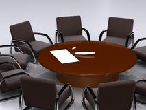 Bargaining table. Business bargaining table. isolated 3D Stock Photography
