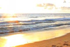 Bargara plaża Przy świtem Obrazy Stock