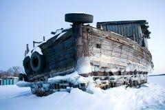 Barge-02 en bois Image libre de droits