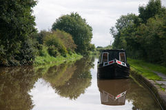 Barge. A barge on a canal Stock Photo