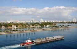 Barge adentro Miami imágenes de archivo libres de regalías
