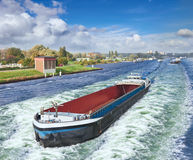 Barge on the Amsterdam Stock Image