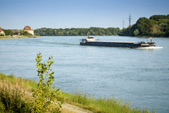 Barge on the blue Danube Royalty Free Stock Photography