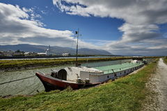 Barge canal lock, Ireland, EU Stock Image