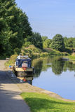 Barge on the canal Royalty Free Stock Images