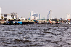 Barge convoy Royalty Free Stock Photo