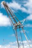 Barge crane Stock Image