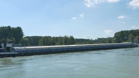 A Barge on the Danube stock footage