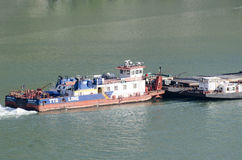 Barge at Danube Royalty Free Stock Photo