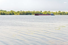 Barge on the Dnieper River Stock Photos