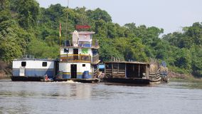 Barge in Fleuve. Bolivia, south America. Stock Image