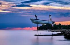 Barge hanging in Savudrija, Croatia Stock Image