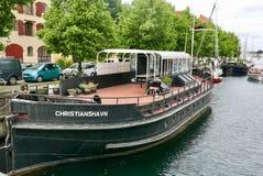 Barge herein Christianhavn Lizenzfreies Stockfoto